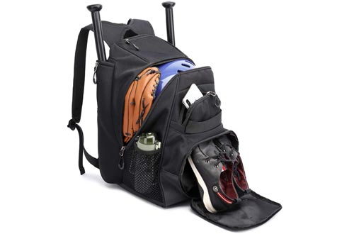 Thinksea Baseball Backpack With Fence Hook, T-Ball Softball Equipment Gear