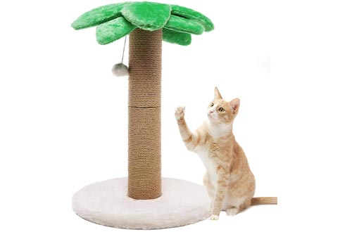 Luckitty Small Cat Scratching Posts Kitty Coconut Tree-Cat Scratch Post