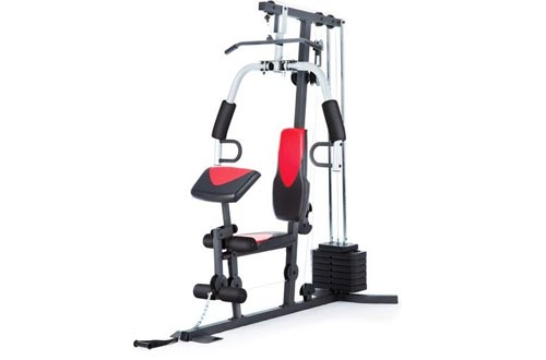Home Gyms Weider 214 lb Stack, 300 lbs, exercise chart, ankle strap, vinyl seats