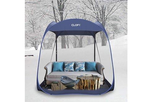 CLOFY Screen Camping Tent with PE Floor|Instant Pop Up Screen House Room|360°