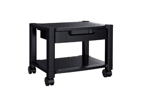 Printer Stands - Under Desk Printer Stand with Cable Management & Storage Drawers, Height Adjustable Printer Desk with 4 Wheels & Lock Mechanism for Mini 3D Printer by HUANUO