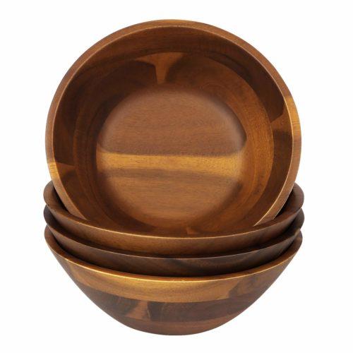 7-Inch Acacia Wooden Salad Bowls
