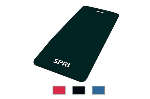 "SPRI Exercise Mat for Fitness, Yoga, Pilates, Stretching & Floor Exercises (48""L x 20""W x 1/2-Inch Thick)"