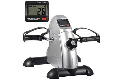 HomGarden Pedal Exerciser Bike Pedals w/LED Display for Legs and Arms,