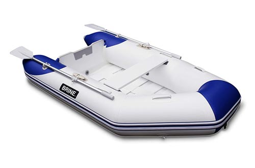 Brine Marine Inflatable Boat Roll Up Dinghy Tender 8 feet - USCG Rated 3 Person 6 HP Motor.
