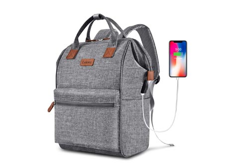 BRINCH Laptop Backpacks 15.6 Inch Wide Open Computer Backpack Laptop Bag College Rucksack Water Resistant Business Travel Backpack Multipurpose Casual Daypack with USB Charging Port