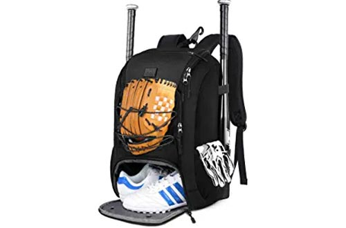 MATEIN Baseball Backpack, Softball Bat Bag with Shoes Compartment for Youth, Boys and Adult, Lightweight Baseball Bag