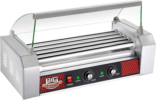 4091 Great Northern Commercial Quality 12 Hot Dog 5 Rollers Grilling Machine W/ Cover 1000 Watts