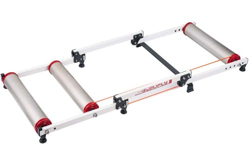 FOUJOY Inddor Bicycle Rollers Foldable Fitness Cycling Parabolic Trainer Aluminium Alloy Bike Roller