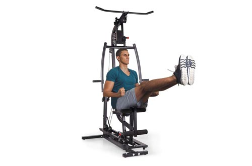 JAXPETY Black Home Gyms Station Workout Machine for Total Body Training