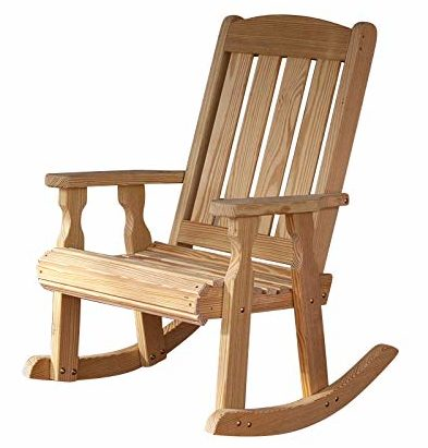 Amish Heavy Duty 600 Lb Mission Pressure Treated Rocking Chair