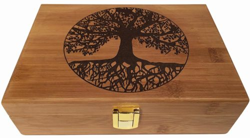 Blake & Lake Tree of Life Wood Stash Box