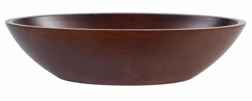 Hosley Dark Brown Wood Bowl 14 and a Half Inches Long Ideal Gift