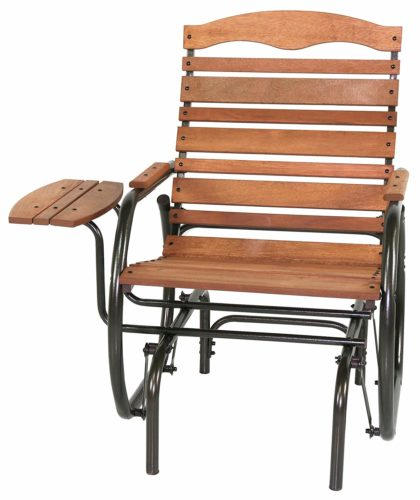 Jack Post CG-21Z Country Garden Glider Chair with Tray