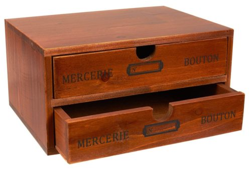 Juvale Small Wood Desktop Organizer Storage Box with Drawers