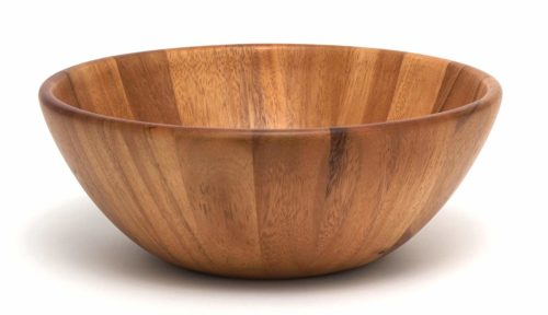 Lipper International 1154 Acacia Round Flair Serving Bowl