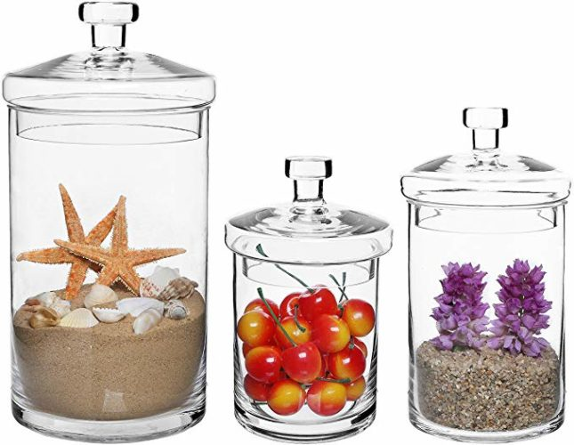 MyGift Set of 3 Clear Glass