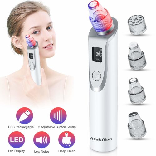 Pore Cleaner Electric Blackhead Suction Facial Comedo Acne Extractor Tool for Women & Men