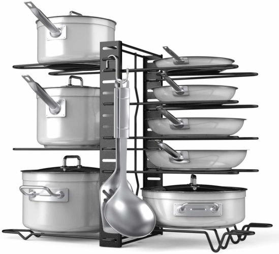 Pot Rack Organizer-Adjustable