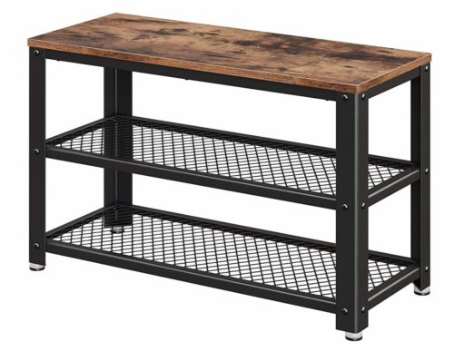 VASAGLE Industrial Shoe Bench