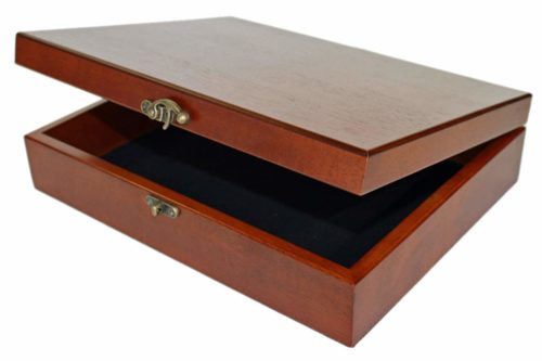 WE Games Old World Wooden Treasure Box with Brass Latch-Wooden Boxes