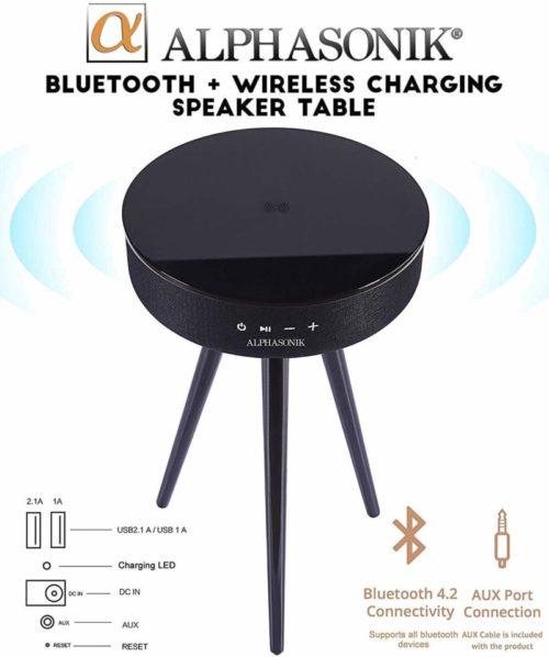 Alphasonik Decor Modern Home Portable Bluetooth Speaker