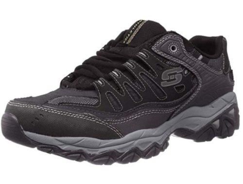 1. Skechers Men's Afterburn Memory-Foam Lace-up Sneaker