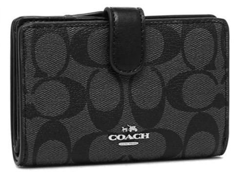 13. Coach Women's Medium Corner Zip Wallet
