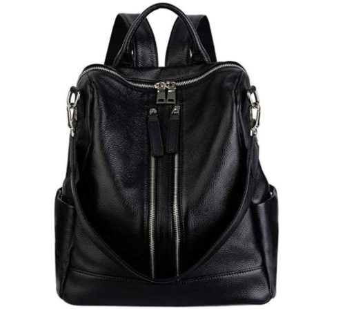 13. YALUXE Women Backpack Purse Convertible Real Leather Versatile Shoulder Bag