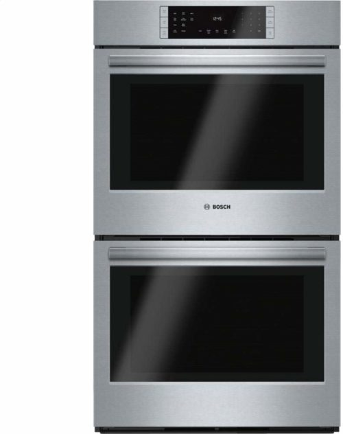 """Bosch HBL8651UC 800 30"""" Stainless Steel Electric Double Wall Oven - Convection"""