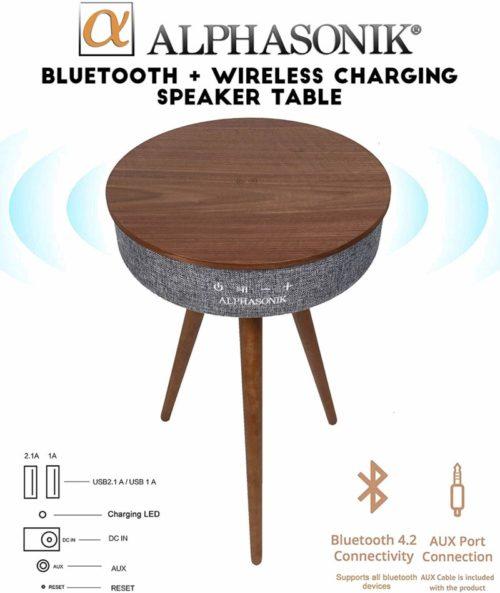 Alphasonik Decor Modern Home Portable Bluetooth Speaker 360 Surround HD Sound