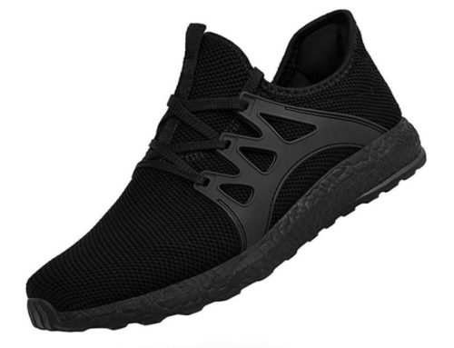 3. QANSI Men's Sneakers Non Slip Work Shoes Ultra Lightweight Breathable Athletic