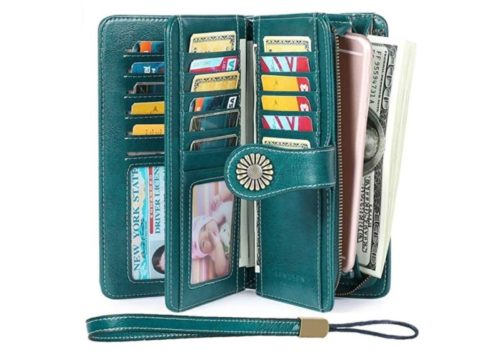 3. Women's Wallets, Large Capacity with Gift Box RFID Protection, Genuine Leather by SENDEFN