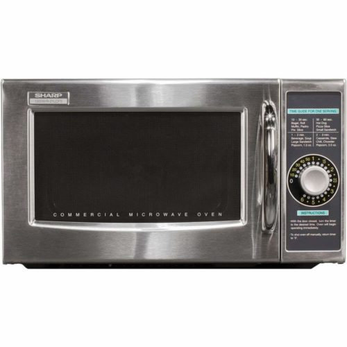 Sharp R-21LCFS Medium-Duty Commercial Microwave (Dial Timer, 1000-Watts, 120-Volts) (Update of R-21LCF)