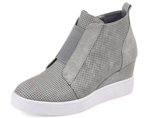 5. VANDIMI Wedge Sneakers for Women Fashion High Top