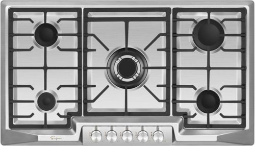 "Empava 36"" 5 Italy Sabaf Sealed Burners Gas Stove Top Gas Cooktop EMPV-36GC881"