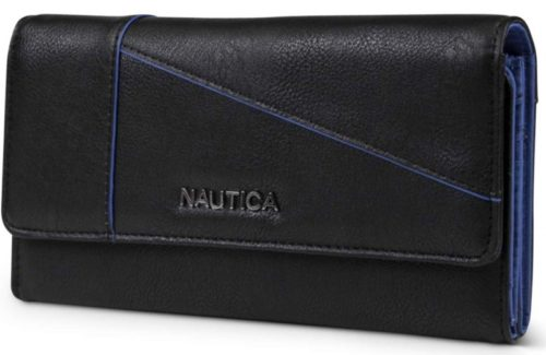 9. Nautica Money Manager RFID Women's Wallet Clutch Organizer (Black (Buff))