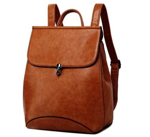 9. WINK KANGAROO Fashion Shoulder Bag Rucksack PU Leather Women Girls Ladies Backpack