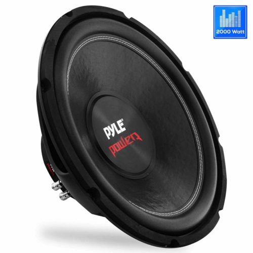 Car Vehicle Subwoofer Audio Speaker - 15inch Non-Pressed Paper Cone, Black Steel Basket, Dual Voice Coil 4 Ohm Impedance, 2000 Watt Power, Foam Surround for Vehicle Stereo Sound System - Pyle PLPW15D