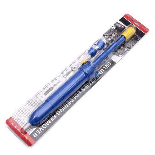 Nulink153; Deluxe Series Desoldering Pump Solder Iron Remover Sucker Hand Tool [Blue, Plastic] [Heavy Duty]