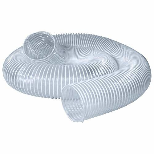 POWERTEC 70220 PVC Dust Collection Hose (5 Inch x 10 Feet) | Flexible Clear Vue Heavy Duty PVC Hose