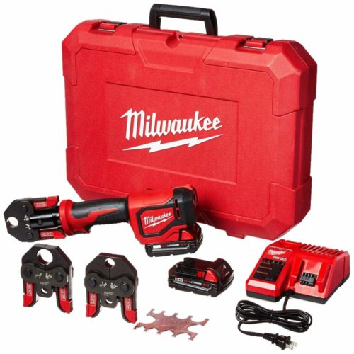 Milwaukee 2674-22C Short Throw Press Tool Kit w/ PEX Crimp Jaws