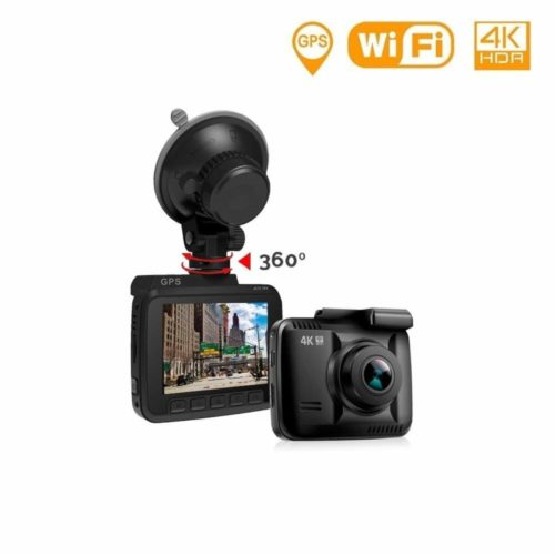 "Lifechaser Dash Cam Car Camera 4K UHD WiFi GPS Night Vision 150° with 2.4"" LCD, Parking Mode, Time Lapse, WDR, G-Sensor, Loop Recording for Cars, Trucks"