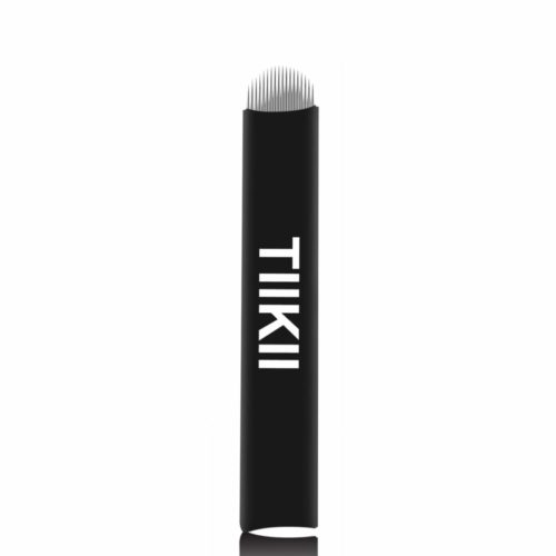 Tiikii Microblading Needles 0.18mm Super Fine Flexible Hair Strokes Eyebrow Disposable Microblade for Semi Permanent Makeup 3D Pen (0.18mm 18 U Shape)