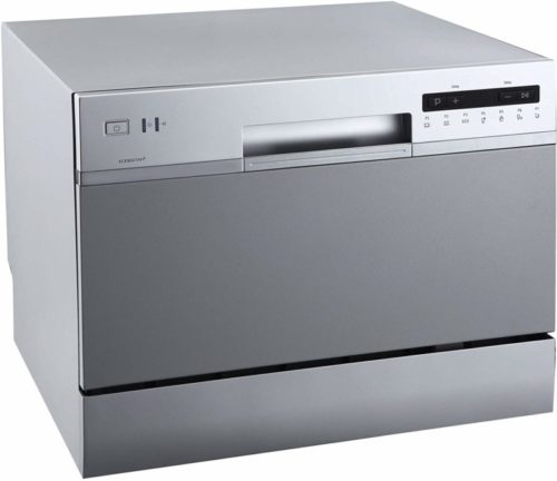 EdgeStar DWP62SV 6 Place Setting Energy Star Rated Portable Countertop Dishwasher - Silver
