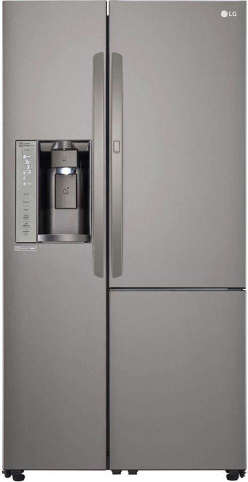 LG LSXS26386D 26.0 Cu. Ft. Black Stainless Steel Side Refrigerator-Energy Star