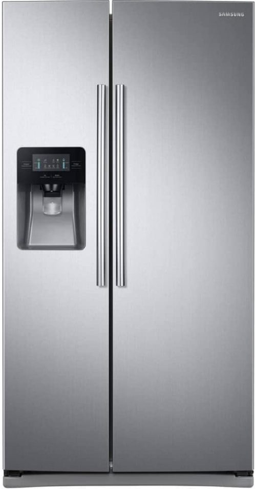 """Samsung RS25J500DSR 36"""" Freestanding Side by Side Refrigerator with 24.52 cu. ft. Capacity"""
