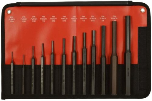 Mayhew Tools 62078 12-Piece Hardened Steel Pin Punch Set