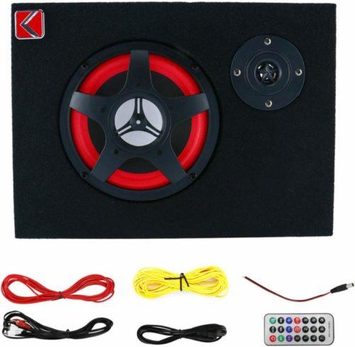 6'' Active Car Under Seat Sub Woofer Bass Speaker Powered Amplifier 350W
