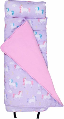 Wildkin Nap Mat with Pillow for Toddler Boys and Girls, Perfect Size for Daycare and Preschool, Designed to Fit on a Standard Cot, Patterns Coordinate with Our Lunch Boxes and Backpacks, Unicorn